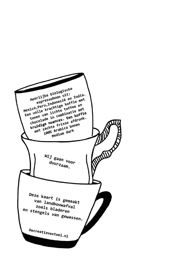 ansichtkaart koerierskoffie achterkant